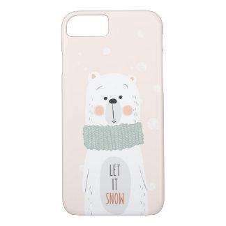 Capa iPhone 8/ 7 Urso polar - o deixe nevar - inverno bonito/Natal