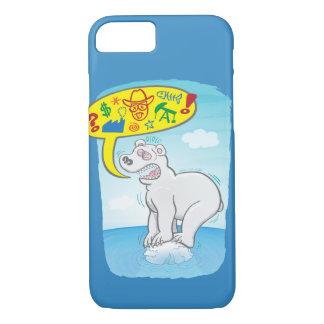 Capa iPhone 8/ 7 Urso polar que diz as palavras más que estão no