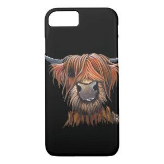 """Capa iPhone 8/ 7 Vaca escocesa galáxia das montanhas de """"BRUCE"""""""
