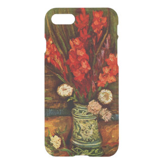 Capa iPhone 8/7 Van Gogh - vaso com Gladiolas vermelho
