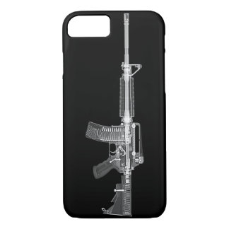 Capa iPhone 8/ 7 VARREDURA real de AR-15 CT do RAIO X ALTO do