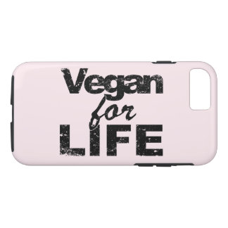 Capa iPhone 8/ 7 Vegan para a VIDA (preto)