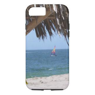 Capa iPhone 8/ 7 Veleiro colorido da praia tropical