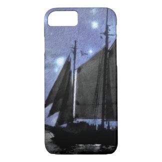 Capa iPhone 8/ 7 veleiro do navio de navigação do mar do oceano da