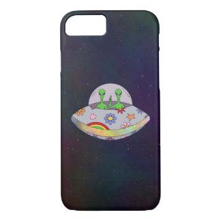 Capa iPhone 8/ 7 Vêm no UFO da paz