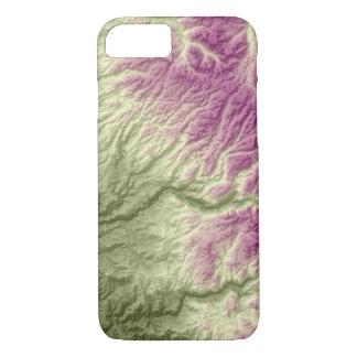 Capa iPhone 8/ 7 Verde abstrato de Califórnia das variações ao roxo
