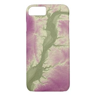 Capa iPhone 8/ 7 Verde abstrato de Illinois das variações ao roxo