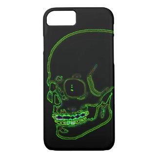 Capa iPhone 8/ 7 Verde de néon funky do crânio!