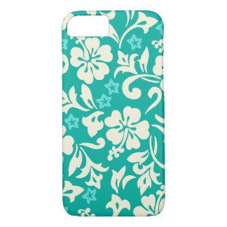 Capa iPhone 8/ 7 Verde havaiano do hibiscus de Kapalua Pareau