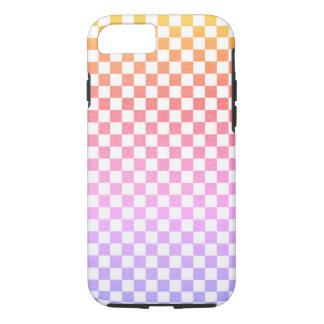 Capa iPhone 8/ 7 Verificação cor-de-rosa Ombre do guingão da