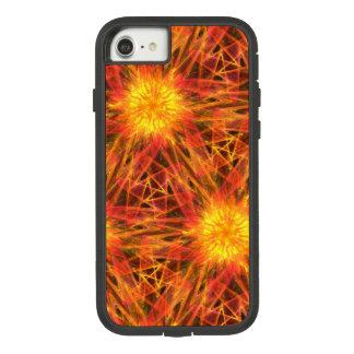 Capa iPhone 8/ 7 vermelho alaranjado do fractal abstrato