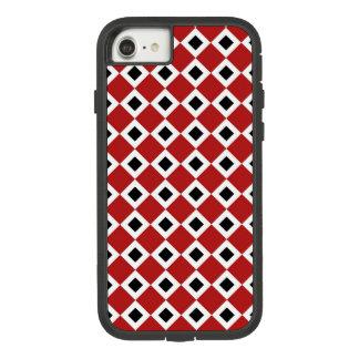 Capa iPhone 8/ 7 Vermelho corajoso, branco, teste padrão do carvão