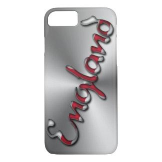 Capa iPhone 8/ 7 Vermelho das cinzas de prata da tipografia de
