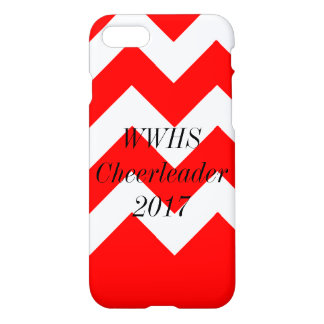 Capa iPhone 8/7 vermelho de Chevron do iPhone 7