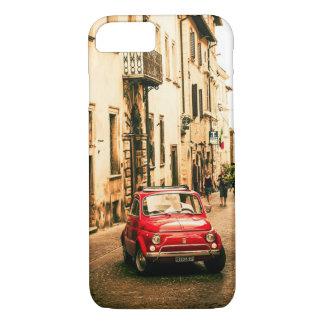 Capa iPhone 8/ 7 Vermelho de Fiat 500 caso do iPhone 7 de Italia,