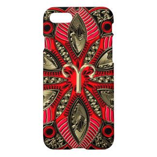 Capa iPhone 8/7 Vermelho e Aries do sinal do zodíaco do ouro