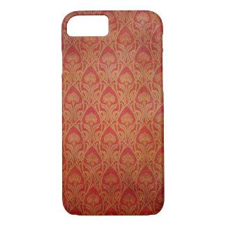 Capa iPhone 8/ 7 Vermelho e damasco de Nouveau da arte do ouro