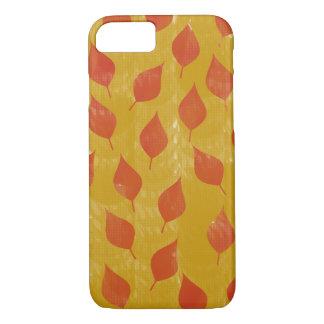 Capa iPhone 8/ 7 Vermelho e folhas do ouro