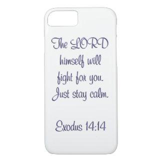 Capa iPhone 8/ 7 Verso do cobrir w/scripture do telemóvel