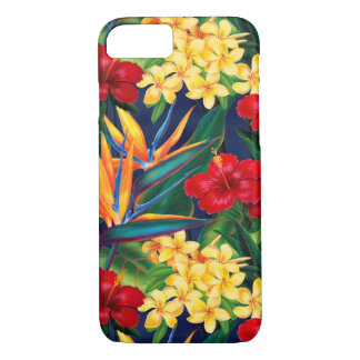 Capa iPhone 8/ 7 Vertical floral havaiano do paraíso tropical
