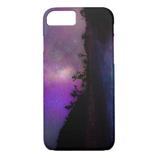 Capa iPhone 8/ 7 Via Láctea do parque nacional de árvore de Joshua
