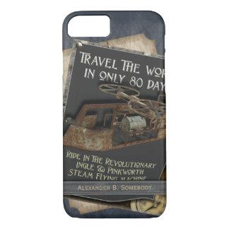Capa iPhone 8/ 7 Viagem aérea oxidada engraçada de máquina de vôo