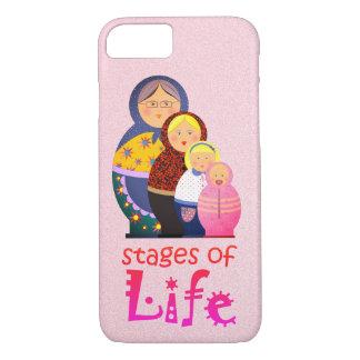 Capa iPhone 8/ 7 Vida dos desenhos animados da mãe das mulheres da