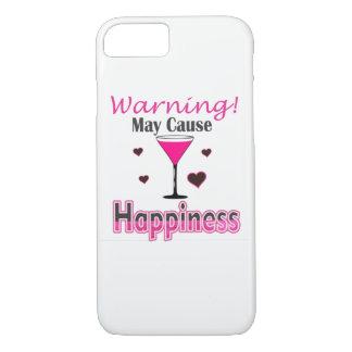 Capa iPhone 8/ 7 Vinho da felicidade que bebe o cobrir de IPhone