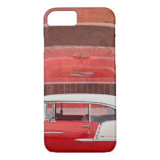 Capa iPhone 8/ 7 Vintage branco vermelho de Dodge do Bel Air