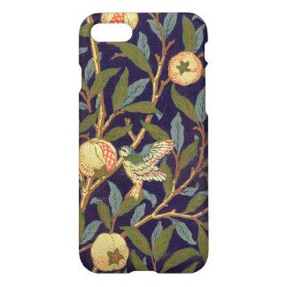 Capa iPhone 8/7 Vintage do pássaro e da romã de William Morris