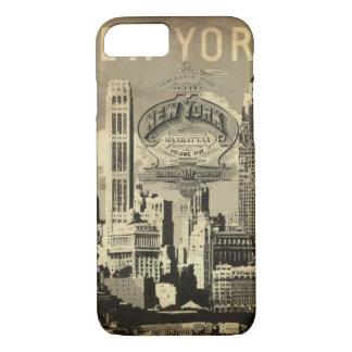 Capa iPhone 8/ 7 Vintage New York do viagem de América EUA