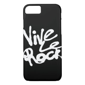 Capa iPhone 8/ 7 VIVE LE ROCHA - slogan do punk rock do vintage 70s