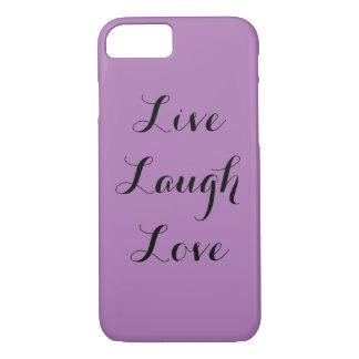 Capa iPhone 8/ 7 Vive o amor do riso