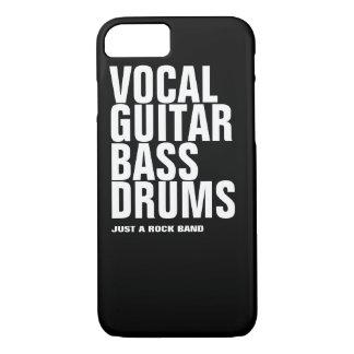 Capa iPhone 8/ 7 vocal, guitarra, baixo, rocha dos cilindros…
