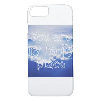 Capa iPhone 8/ 7 Você é meu lugar feliz