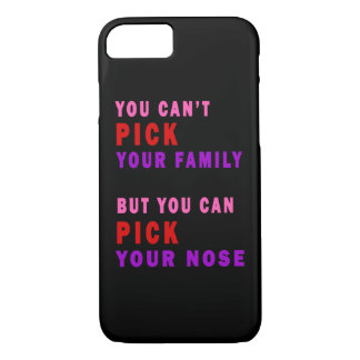 Capa iPhone 8/ 7 Você não pode escolher seu nariz da família