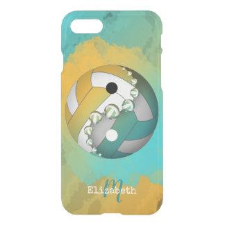 Capa iPhone 8/7 voleibol de yang do yin das meninas monogrammed de