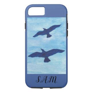 Capa iPhone 8/ 7 Voo dos pássaros do céu azul