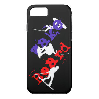 Capa iPhone 8/ 7 Wakeboard mostra em silhueta o iPhone 8/7 de caso