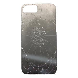 Capa iPhone 8/ 7 Web de aranha com orvalho da manhã