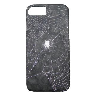 Capa iPhone 8/ 7 Web de aranha na noite