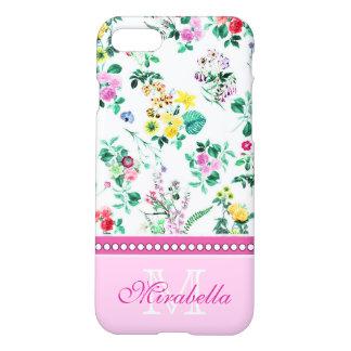 Capa iPhone 8/7 Wildflowers & rosas amarelos vermelhos roxos