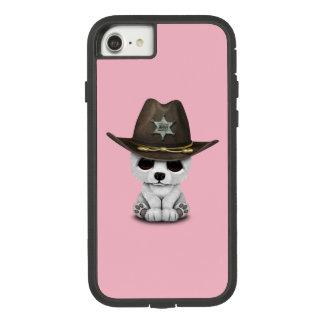 Capa iPhone 8/ 7 Xerife bonito de Cub de urso polar do bebê