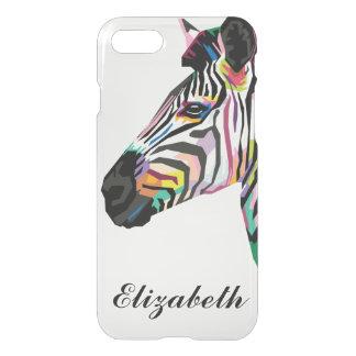 Capa iPhone 8/7 Zebra colorida personalizada do pop art