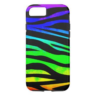 Capa iPhone 8/ 7 Zebra do arco-íris