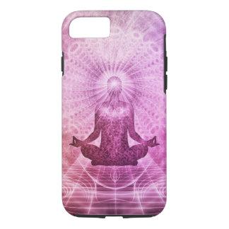 Capa iPhone 8/ 7 Zen espiritual da meditação da ioga colorido