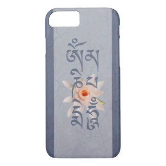 Capa iPhone 8/ 7 Zumbido Lotus do OM Mani Padme - azul