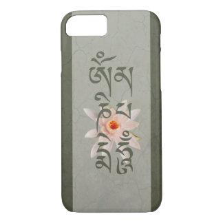 Capa iPhone 8/ 7 Zumbido Lotus do OM Mani Padme - azul esverdeado