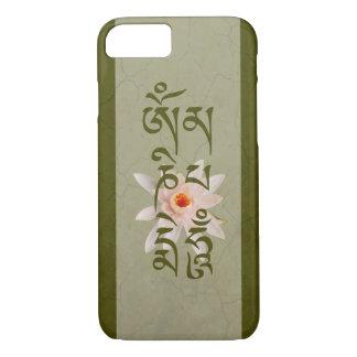 Capa iPhone 8/ 7 Zumbido Lotus do OM Mani Padme - verde