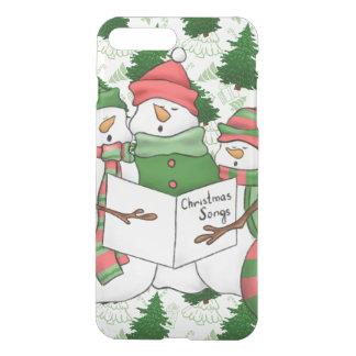 Capa iPhone 8 Plus/7 Plus 3 Carolers do boneco de neve